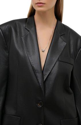 Женская кулон на цепочке rocstud VALENTINO серебряного цвета, арт. WW2J0I71/YCW | Фото 2 (Материал: Металл)