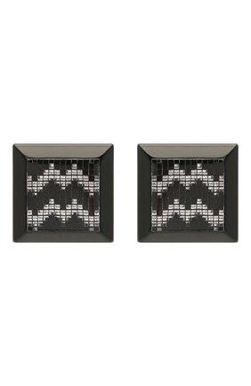 Женские серьги EMPORIO ARMANI черного цвета, арт. 860404/1A615   Фото 1