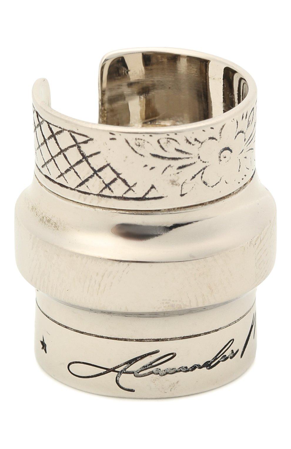 Женское кольцо ALEXANDER MCQUEEN серебряного цвета, арт. 667555/J160Y | Фото 1 (Материал: Металл)