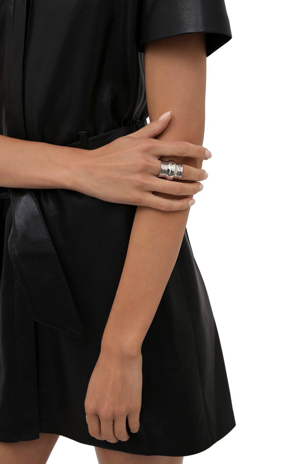 Женское кольцо ALEXANDER MCQUEEN серебряного цвета, арт. 667555/J160Y | Фото 2 (Материал: Металл)