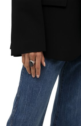 Женское кольцо ALEXANDER MCQUEEN черного цвета, арт. 667561/I11WY | Фото 2