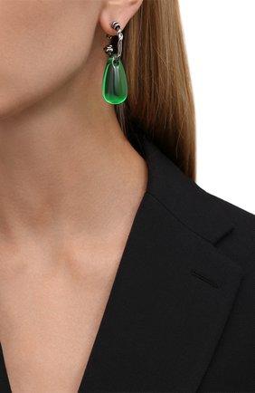 Женские моносерьга ALEXANDER MCQUEEN зеленого цвета, арт. 667565/I11WY | Фото 2