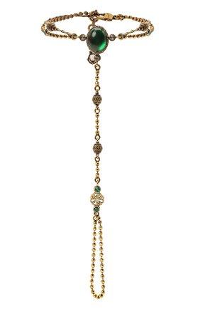 Женский браслет ALEXANDER MCQUEEN зеленого цвета, арт. 667572/I4620 | Фото 1
