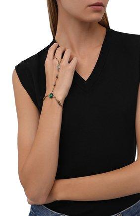 Женский браслет ALEXANDER MCQUEEN зеленого цвета, арт. 667572/I4620 | Фото 2