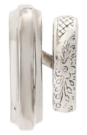 Женские кафф ALEXANDER MCQUEEN серебряного цвета, арт. 668114/J160Y | Фото 1