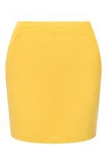 Женская кожаная юбка TOM FORD желтого цвета, арт. GCL824-LEX228 | Фото 1 (Материал подклада: Шелк; Длина Ж (юбки, платья, шорты): Мини; Стили: Гламурный; Женское Кросс-КТ: Юбка-одежда)