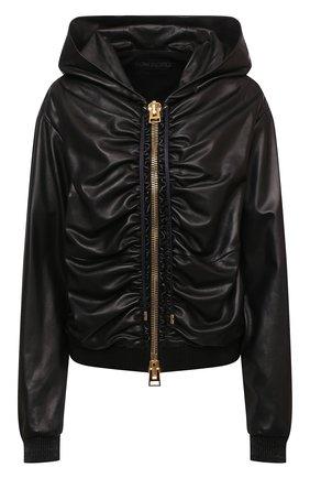 Женская кожаная куртка TOM FORD черного цвета, арт. CSL682-LEX228 | Фото 1