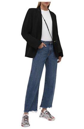 Женские комбинированные кроссовки ns1 DOLCE & GABBANA белого цвета, арт. CK1810/A0840 | Фото 2 (Материал внешний: Текстиль; Материал внутренний: Натуральная кожа, Текстиль; Подошва: Платформа)