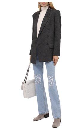 Женские замшевые ботильоны BRUNELLO CUCINELLI серого цвета, арт. MZSFC2026 | Фото 2 (Материал внутренний: Натуральная кожа; Каблук высота: Средний; Подошва: Плоская; Каблук тип: Устойчивый; Материал внешний: Замша)