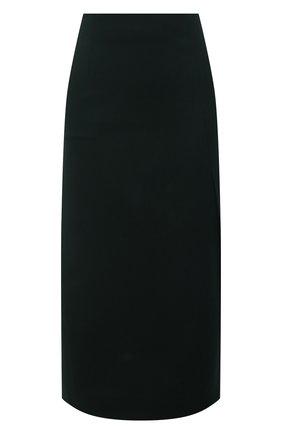 Женская шерстяная юбка LORO PIANA зеленого цвета, арт. FAL8031 | Фото 1 (Материал внешний: Шерсть; Материал подклада: Шелк; Стили: Кэжуэл; Женское Кросс-КТ: Юбка-одежда; Длина Ж (юбки, платья, шорты): Миди)