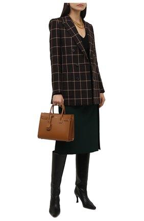 Женская шерстяная юбка LORO PIANA зеленого цвета, арт. FAL8031 | Фото 2 (Материал внешний: Шерсть; Материал подклада: Шелк; Стили: Кэжуэл; Женское Кросс-КТ: Юбка-одежда; Длина Ж (юбки, платья, шорты): Миди)