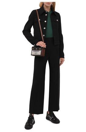 Женские кожаные кеды vl7n VALENTINO черного цвета, арт. WW2S0V66/WRQ | Фото 2