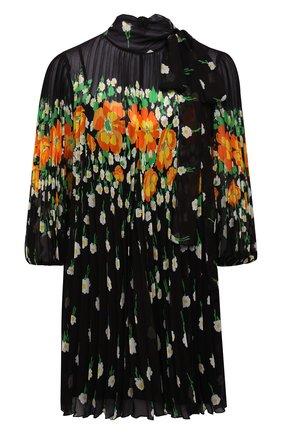 Женское платье REDVALENTINO черного цвета, арт. WR3VABN5/604 | Фото 1 (Материал подклада: Синтетический материал; Длина Ж (юбки, платья, шорты): Мини; Материал внешний: Синтетический материал; Стили: Романтичный; Случай: Вечерний; Женское Кросс-КТ: Платье-одежда; Рукава: 3/4)