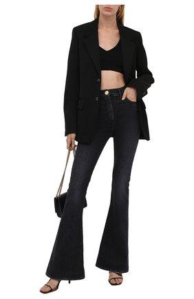 Женские джинсы BALMAIN черного цвета, арт. WF1MJ025/D134   Фото 2