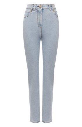 Женские джинсы BALMAIN голубого цвета, арт. WF1MF000/D138   Фото 1