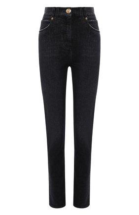 Женские джинсы BALMAIN черного цвета, арт. WF1MF000/D134   Фото 1 (Материал внешний: Хлопок; Длина (брюки, джинсы): Стандартные; Стили: Гламурный; Кросс-КТ: Деним; Силуэт Ж (брюки и джинсы): Скинни)