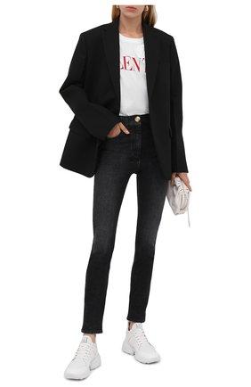 Женские джинсы BALMAIN черного цвета, арт. WF1MF000/D134   Фото 2 (Материал внешний: Хлопок; Длина (брюки, джинсы): Стандартные; Стили: Гламурный; Кросс-КТ: Деним; Силуэт Ж (брюки и джинсы): Скинни)