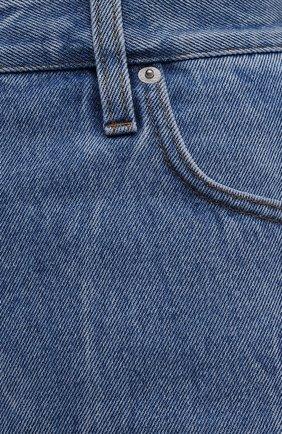 Женские джинсовые шорты DRIES VAN NOTEN синего цвета, арт. 212-032406-3381 | Фото 5 (Женское Кросс-КТ: Шорты-одежда; Стили: Гламурный; Кросс-КТ: Деним, Широкие; Материал внешний: Хлопок; Длина Ж (юбки, платья, шорты): Миди)
