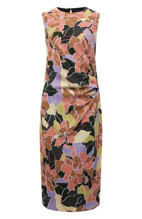 Женское платье DRIES VAN NOTEN разноцветного цвета, арт. 212-031051-3009   Фото 1 (Материал внешний: Синтетический материал; Материал подклада: Вискоза; Стили: Романтичный; Случай: Повседневный; Женское Кросс-КТ: Платье-одежда; Длина Ж (юбки, платья, шорты): До колена)