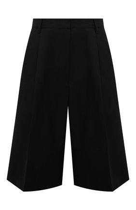 Женские шерстяные шорты DRIES VAN NOTEN черного цвета, арт. 212-030974-3183   Фото 1 (Материал внешний: Шерсть; Длина Ж (юбки, платья, шорты): Миди; Стили: Гламурный; Женское Кросс-КТ: Шорты-одежда; Кросс-КТ: Широкие)