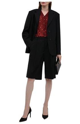 Женские шерстяные шорты DRIES VAN NOTEN черного цвета, арт. 212-030974-3183   Фото 2 (Материал внешний: Шерсть; Длина Ж (юбки, платья, шорты): Миди; Стили: Гламурный; Женское Кросс-КТ: Шорты-одежда; Кросс-КТ: Широкие)