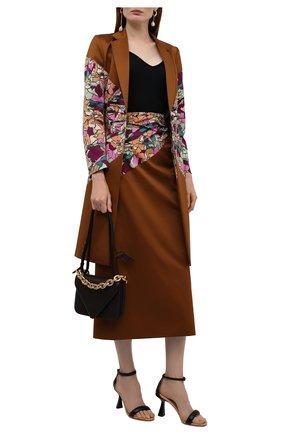 Женская хлопковая юбка DRIES VAN NOTEN коричневого цвета, арт. 212-030885-3150   Фото 2 (Материал внешний: Хлопок; Длина Ж (юбки, платья, шорты): Миди; Материал подклада: Вискоза; Стили: Романтичный; Женское Кросс-КТ: Юбка-одежда)