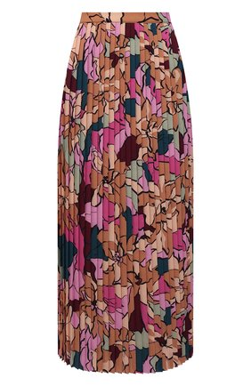Женская плиссированная юбка DRIES VAN NOTEN разноцветного цвета, арт. 212-030823-3009   Фото 1 (Материал внешний: Синтетический материал; Длина Ж (юбки, платья, шорты): Миди; Стили: Романтичный; Женское Кросс-КТ: Юбка-одежда, юбка-плиссе)