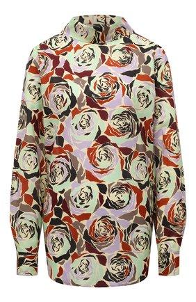 Женская хлопковая блузка DRIES VAN NOTEN разноцветного цвета, арт. 212-030777-3076 | Фото 1 (Материал внешний: Хлопок; Рукава: Длинные; Длина (для топов): Стандартные; Стили: Романтичный; Женское Кросс-КТ: Блуза-одежда; Принт: С принтом)
