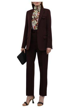 Женская хлопковая блузка DRIES VAN NOTEN разноцветного цвета, арт. 212-030777-3076 | Фото 2 (Материал внешний: Хлопок; Рукава: Длинные; Длина (для топов): Стандартные; Стили: Романтичный; Женское Кросс-КТ: Блуза-одежда; Принт: С принтом)