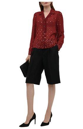 Женская блузка из вискозы DRIES VAN NOTEN красного цвета, арт. 212-030703-3005   Фото 2 (Рукава: Длинные; Материал внешний: Вискоза; Длина (для топов): Стандартные; Стили: Романтичный; Принт: С принтом; Женское Кросс-КТ: Блуза-одежда)