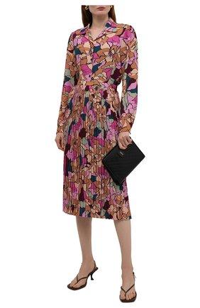 Женская рубашка DRIES VAN NOTEN разноцветного цвета, арт. 212-030702-3009   Фото 2 (Рукава: Длинные; Материал внешний: Синтетический материал; Длина (для топов): Стандартные; Стили: Романтичный; Принт: С принтом; Женское Кросс-КТ: Рубашка-одежда)