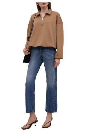 Женский хлопковый пуловер TOTÊME коричневого цвета, арт. 213-457-773 | Фото 2