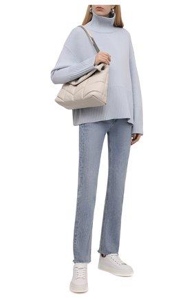 Женский кашемировый свитер TOTÊME голубого цвета, арт. 213-562-763 | Фото 2