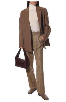 Женские кашемировые брюки LORO PIANA бежевого цвета, арт. FAL8084   Фото 2