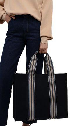 Женский сумка-шопер suitcase stripe LORO PIANA голубого цвета, арт. FAL2357   Фото 2 (Материал: Текстиль; Сумки-технические: Сумки-шопперы; Размер: large)