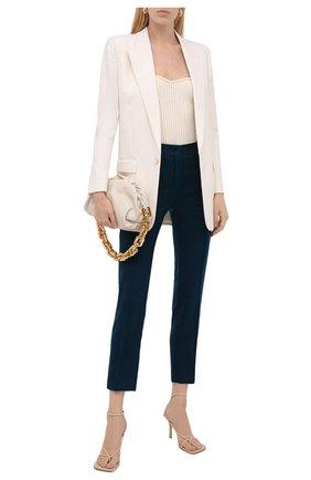 Женские кашемировые брюки LORO PIANA синего цвета, арт. FAI8499   Фото 2