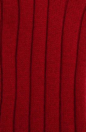 Женские кашемировые носки LORO PIANA красного цвета, арт. FAF8553 | Фото 2 (Материал внешний: Кашемир, Шерсть)