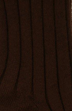 Женские кашемировые носки LORO PIANA коричневого цвета, арт. FAF8553 | Фото 2