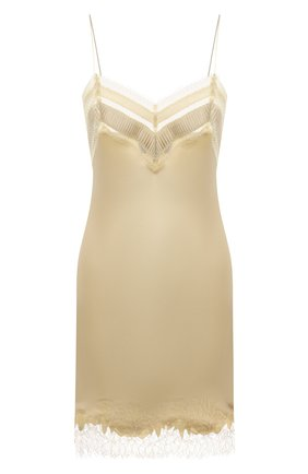 Женская шелковая сорочка CARINE GILSON золотого цвета, арт. BB0353ES W21 | Фото 1