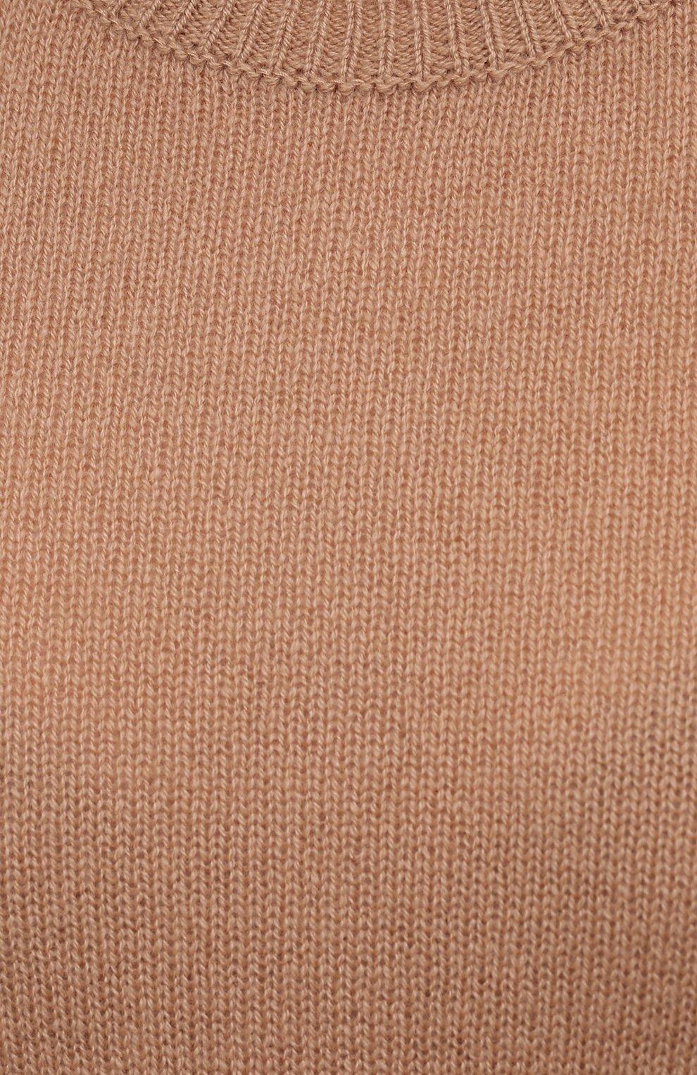 Женский кашемировый пуловер THEORY бежевого цвета, арт. J0118711   Фото 5 (Материал внешний: Шерсть, Кашемир; Рукава: Длинные; Длина (для топов): Стандартные; Женское Кросс-КТ: Пуловер-одежда; Стили: Кэжуэл)