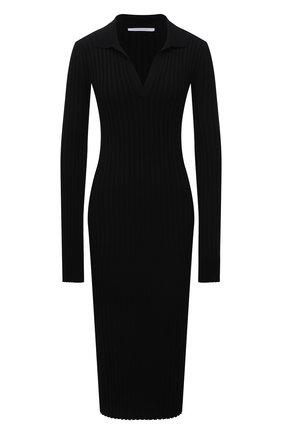 Женское платье из вискозы HELMUT LANG черного цвета, арт. L04HW724 | Фото 1