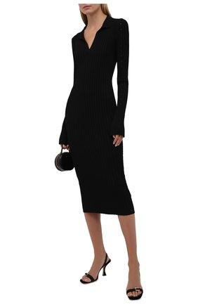 Женское платье из вискозы HELMUT LANG черного цвета, арт. L04HW724 | Фото 2