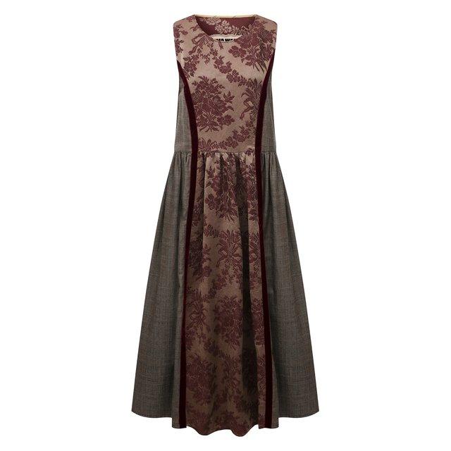 Платье изо льна и шелка Uma Wang