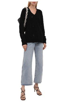Женский шерстяной свитер UMA WANG черного цвета, арт. W1 M UK7178 | Фото 2 (Рукава: Длинные; Материал внешний: Шерсть; Длина (для топов): Стандартные; Стили: Кэжуэл; Женское Кросс-КТ: Свитер-одежда)