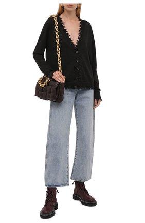Женский кашемировый кардиган UMA WANG темно-серого цвета, арт. W1 M UK7156 | Фото 2 (Материал внешний: Шерсть, Кашемир; Рукава: Длинные; Длина (для топов): Стандартные; Стили: Кэжуэл; Женское Кросс-КТ: кардиган-трикотаж)