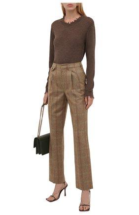 Женский кашемировый пуловер UMA WANG бежевого цвета, арт. W1 M UK7154 | Фото 2 (Материал внешний: Шерсть, Кашемир; Длина (для топов): Стандартные; Рукава: Длинные; Стили: Кэжуэл; Женское Кросс-КТ: Пуловер-одежда)