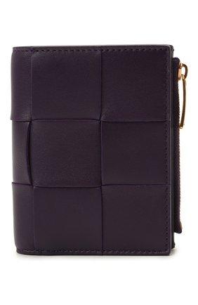Женские кожаное портмоне BOTTEGA VENETA фиолетового цвета, арт. 651381/VCQC4 | Фото 1
