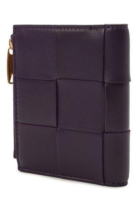 Женские кожаное портмоне BOTTEGA VENETA фиолетового цвета, арт. 651381/VCQC4 | Фото 2