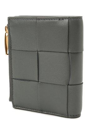 Женские кожаное портмоне BOTTEGA VENETA серого цвета, арт. 651381/VCQC4 | Фото 2