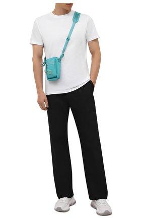 Мужская текстильная сумка arvel ACNE STUDIOS голубого цвета, арт. C10092/M   Фото 2 (Материал: Текстиль; Ремень/цепочка: На ремешке)